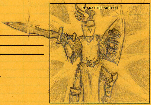 AD&D Character Sketch: Choderick Argenhelm, paladin