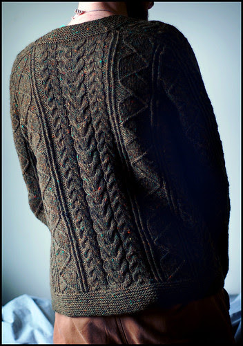Saddle Shoulder Aran Cardigan 2