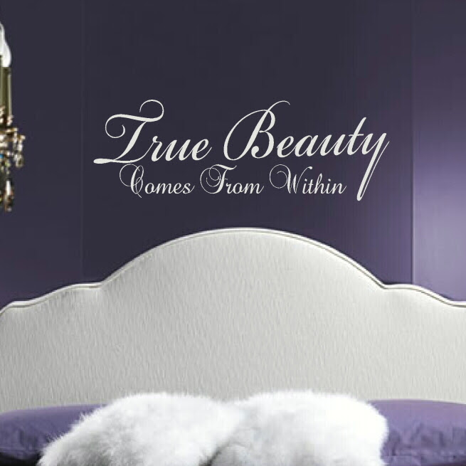 True Beauty Comes From Within Wall Stickers Quote