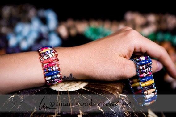 BIG SPECIAL BOGO. Acholi Bracelet Band, Uganda recycled paper