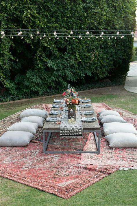 Eclectic outdoor dinner party tablescape   Wedding & Party