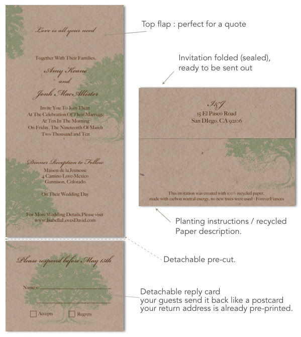 Recycled Paper Wedding Invitations: For Ever: Have You Ever Thought About Recycled Paper