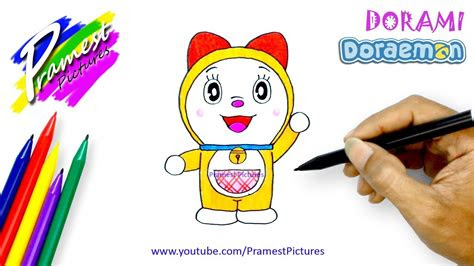 dorami  menggambar  mewarnai gambar kartun