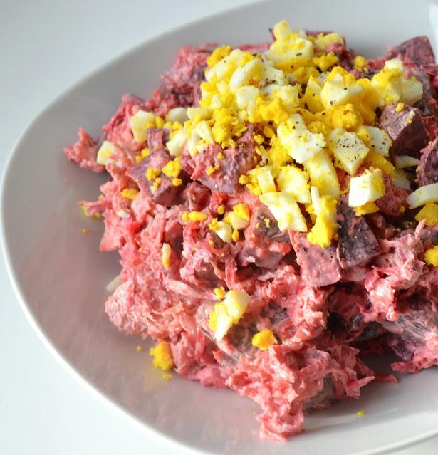 Creamy Beet & Sauerkraut Salad