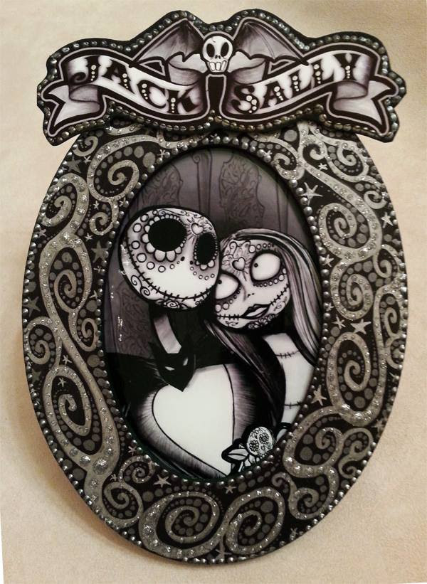Jack And Sally Print By Dana Changing Art Horrific Finds