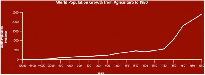 World population growth. Image courtesy of Karen Carr Studio.