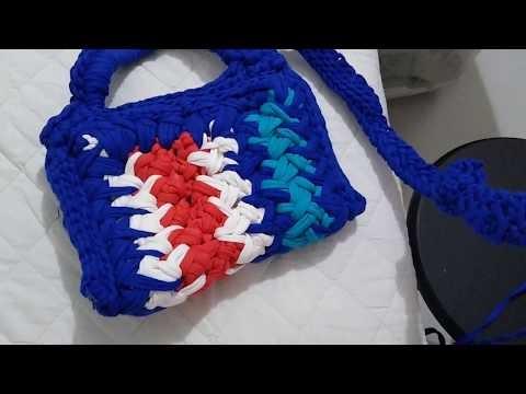 Crochê: bolsa com alça, para celular, fio de malha!