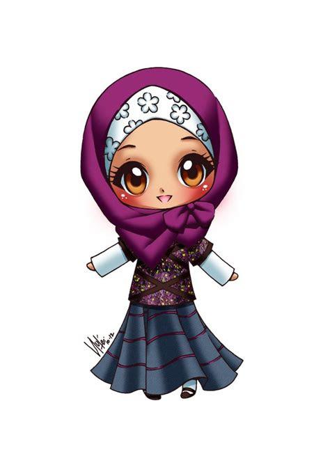 images  cartoon muslimah  pinterest muslim
