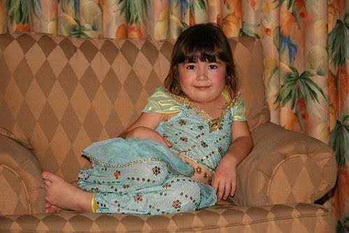 Dova in her Princess Jasmine costume