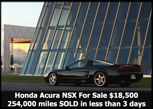 Honda Acura NSX For Sale 254,000 miles $18,500 sells in less than 3 days