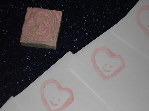 Made with Love Valentine Stamp