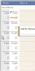 Scrybe Calendar Timezone Strip