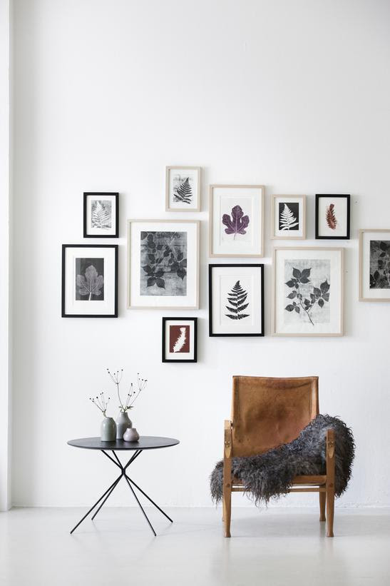 Leaf prints arrangement - via cocolapinedesign.com