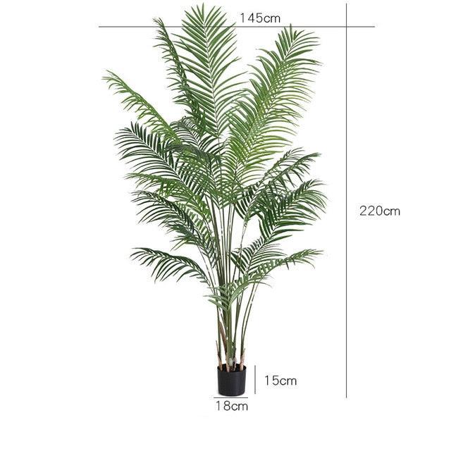 220cm Tropical Plants Large Artificial Palm Tree Green Plastic Palm Le Cityportal