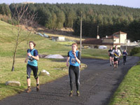 Becky Carlyle and Helen Murray - Lothian mixed team - fastest ladies on Leg 1