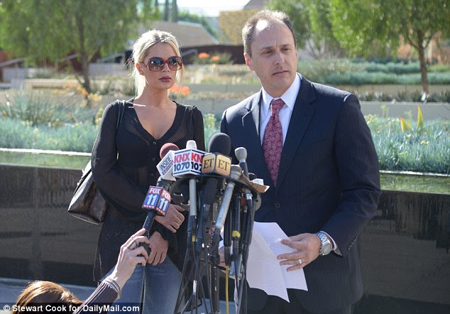 Brave: Spencer Kulvin praised the courage of Chloe Goins and other women who allege Bill Cosby attacked them as he spoke after the meeting with detectives