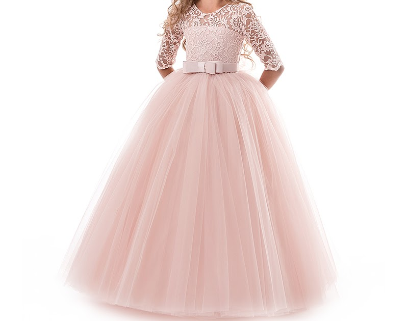 49517e98fc7086 Beste Kopen Lange Avondjurk Kinderen Bloem Meisje Jurken Tiener Bruiloft  Communie Lace Prom Jassen Maat 9 10 12 14 Jr Verjaardag Outfits Goedkoop ~  saa12- ...