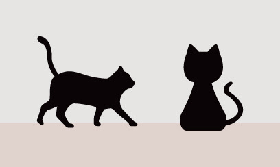 猫のシルエット 1 Ec Designデザイン