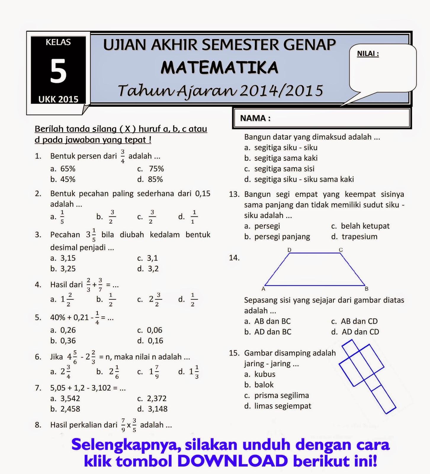 UKK Matematika Kelas 5 001