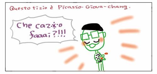 Questo tizio e' Picasso-Giova-chang. Che caz*o faaai?!!!