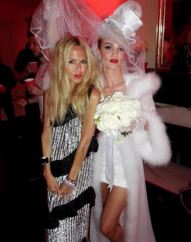 Partying a storm: Rachel Zoe and Rosie posed together in a super glamorous manner at the fancy dress bash