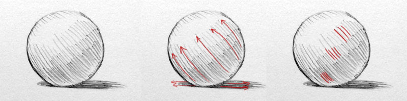 Shading with hatching