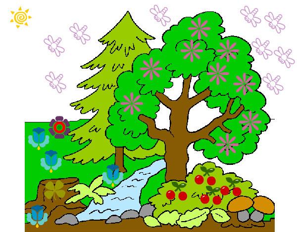 Dibujo De La Naturaleza Pintado Por Karenmelis En Dibujosnet El Día