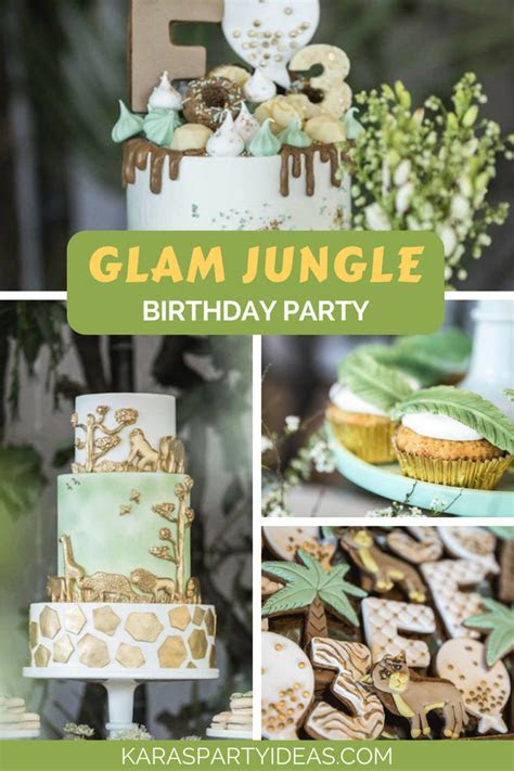 Kara's Party Ideas Glam Jungle Birthday Party   Kara's