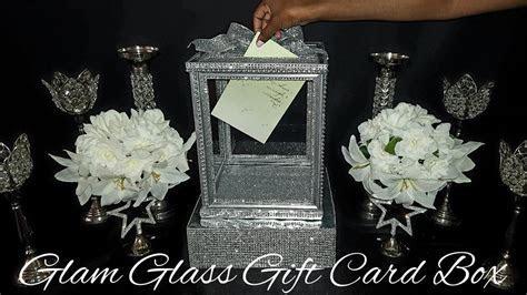 ?DIY?Dollar Tree Glam Glass Wedding Gift Card Box   YouTube