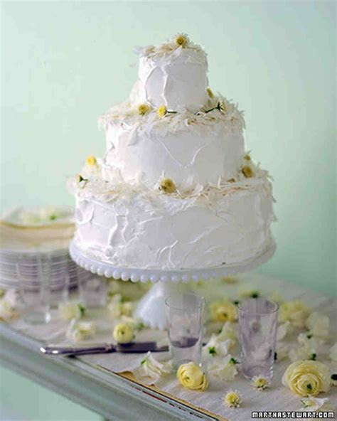 Coconut Wedding Cakes   Martha Stewart Weddings