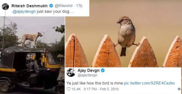 Riteish Deshmukh and Ajay Devgn taking jibe on each other is amusing netizens