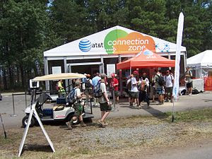 AT&T Connection Zone at the 2010 National Scou...