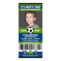 Soccer Birthday Photo Template Card