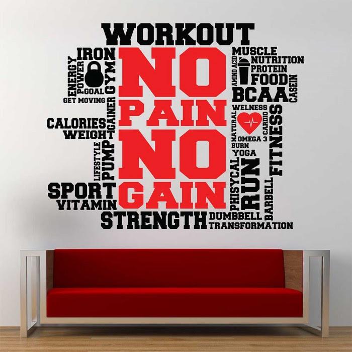 Workout Fitness Sport Gym Word Clound Wandaufkleber Wandtattoo