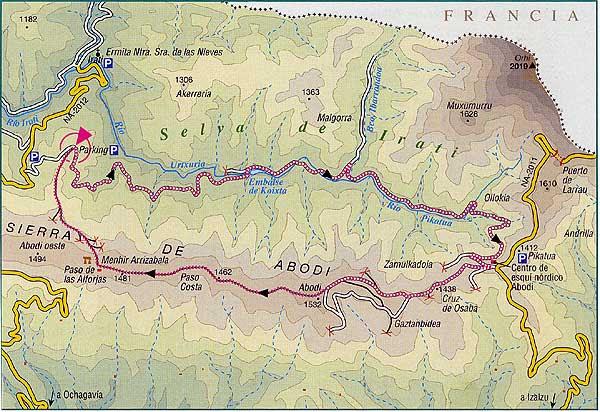 Mapa Selva De Irati.Mapa Selva De Irati Mapa