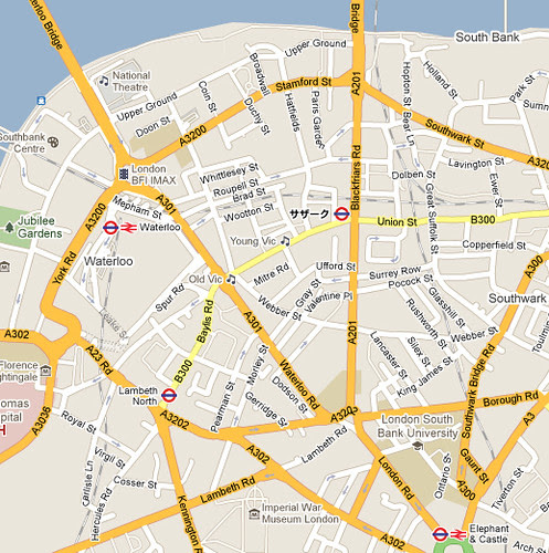 Southwark Tube according to Google Maps