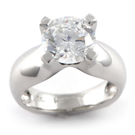 Wide Band Solitaire Engagement Ring (Custom)   Wixon Jewelers