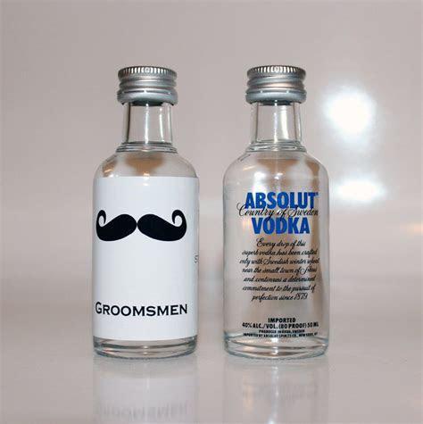 25 Custom Absolut Vodka Mini Bottle Labels Wedding Favors