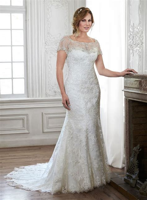 Maggie Sottero Chesney available in plus size at Cherry