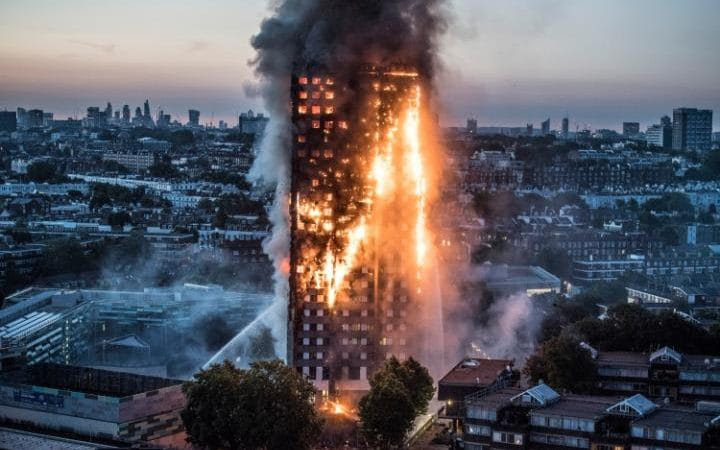 Grenfell Tower in Notting Hill was engulfed
