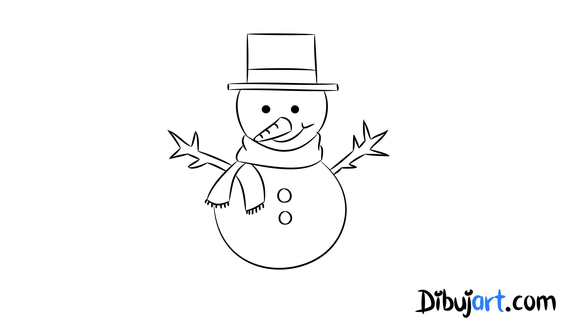 Cómo Dibujar Un Muñeco De Nieve Paso A Paso Dibujartcom