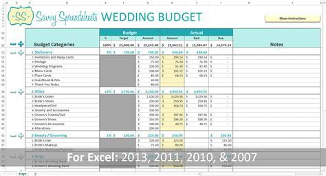 wedding budget template the knot   DriverLayer Search Engine