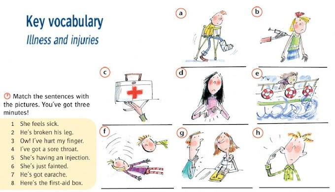Injuries And Illnesses Vocabulary - Vocabulary - Accidents and Injuries - Interactive worksheet : 1 per group divide the cards equally.