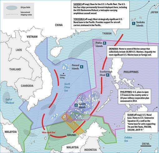 South China Sea - Nine Dash Line Territorial Disputes
