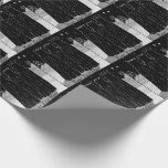 Three kings and star black and white art christmas wrapping paper