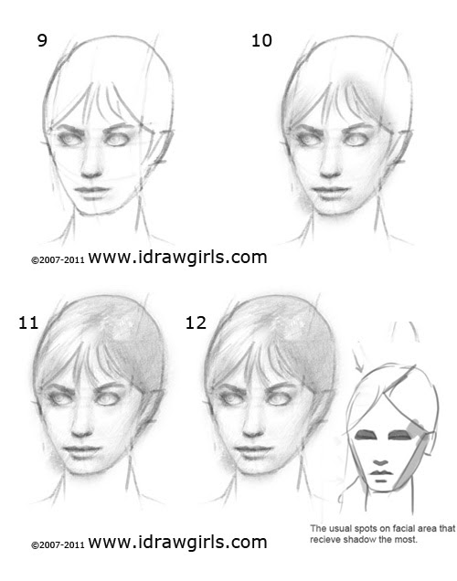 How to draw face step 3