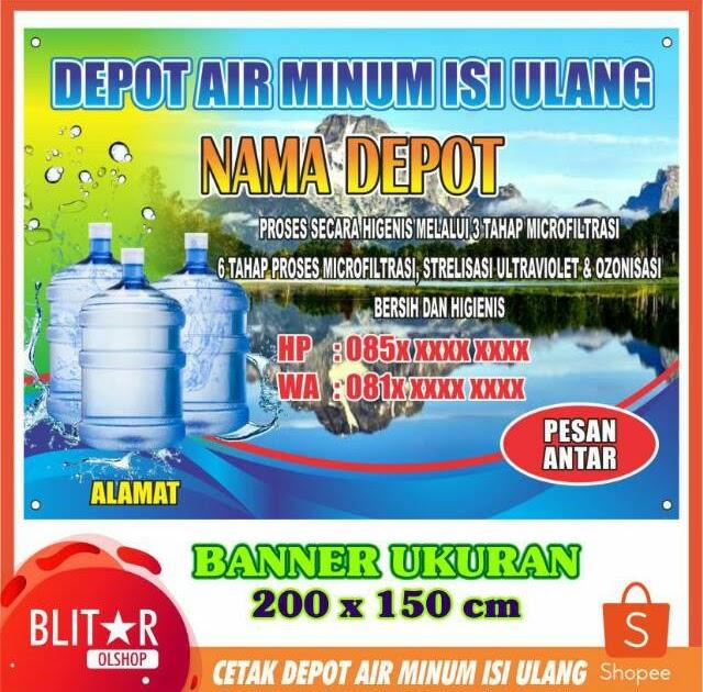 Gambar Spanduk Depot Air Minum Isi Ulang - desain spanduk ...