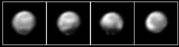 Imagens de Plutão captadas pela New Horizons entre 29 de maio e 2 de junho