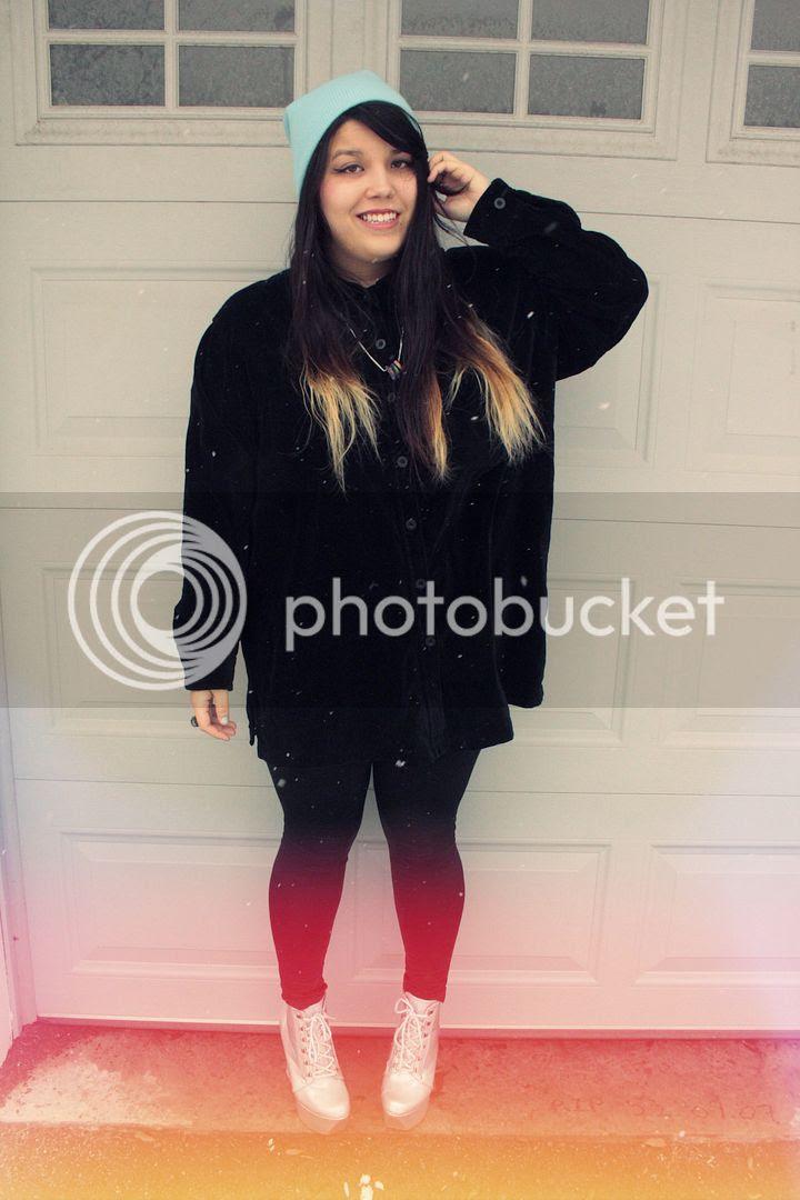 plus size fashion, Jessica Ip, Plus Size Velvet Shirt, Translucent Shara, shoedazzle, shoedazzle review, Holographic Heels, Iridescence, Full figured fashion, toronto, canada, plus size blogger, plus size fashion, canadian plus size blogger, plus size beanie, ombre