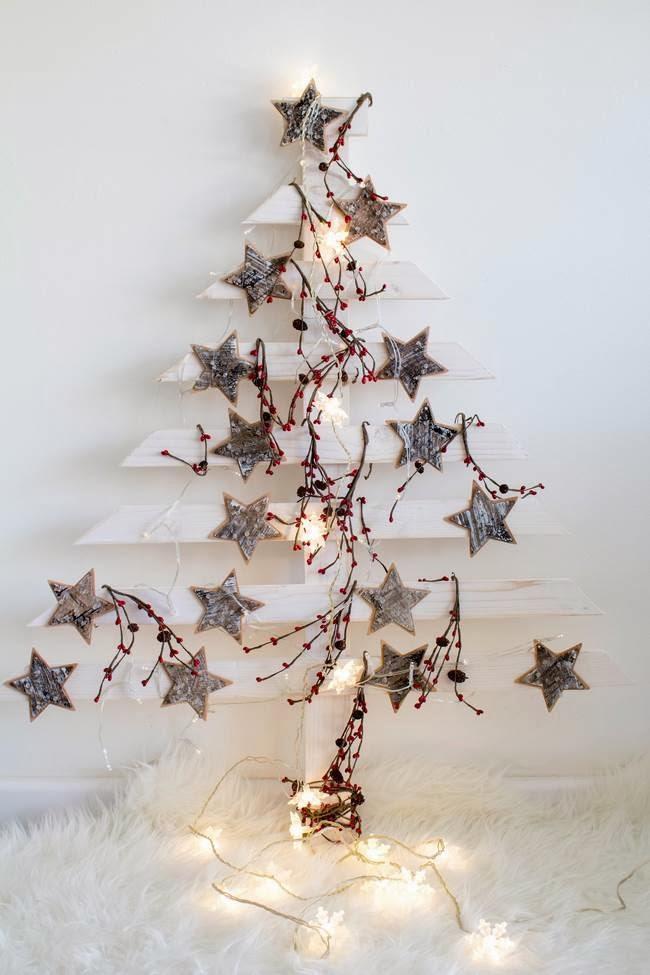 Resultado de imagen de arbol de navidad diy en madera